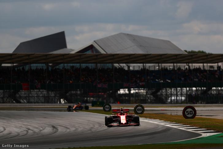 Charles Leclerc a 2019-es Brit Nagydíjon, Silverstone-ban