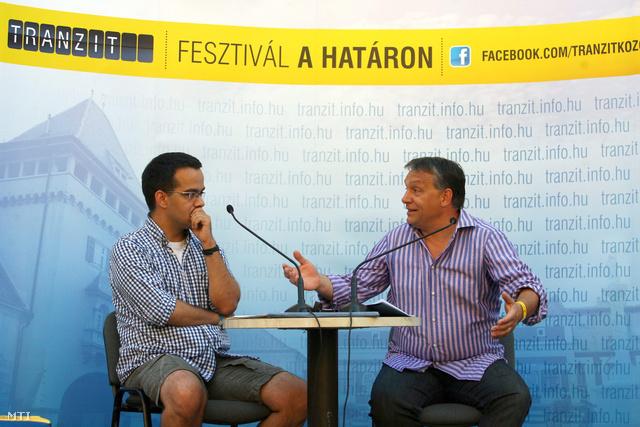 Ablonczy Bálint újságíró és Orbán Viktor