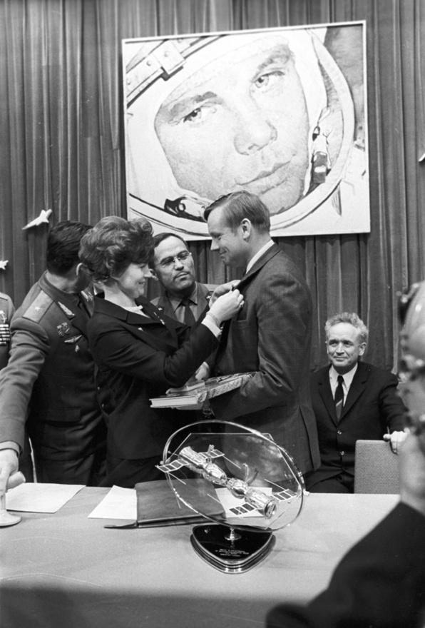 Valentyina Vlagyimirovna Tyereskovával 1970-ben a Szovjetúnióban