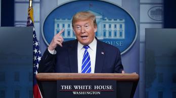 Trump azt állítja, csak szarkasztikusan beszélt a fertőtlenítőszerekről