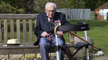 28,6 millió fontot gyűjtött össze járókeretes sétálással egy 99 éves brit veterán