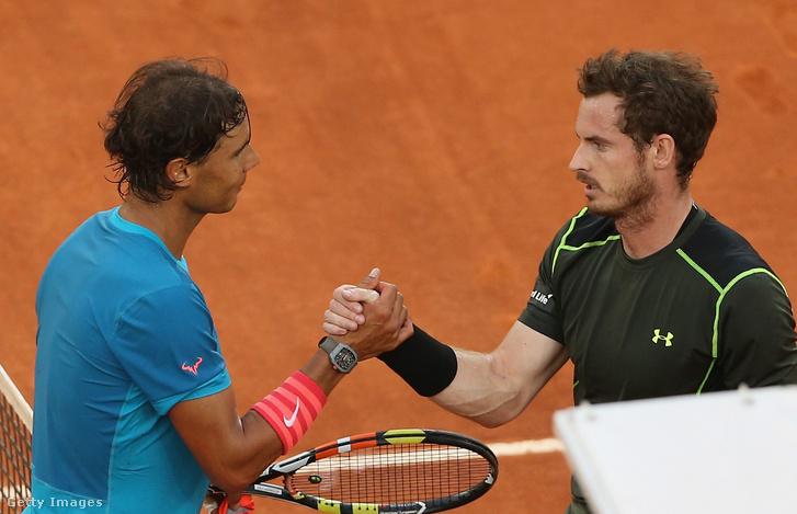 Rafael Nadal és Andy Murray 2015-ben