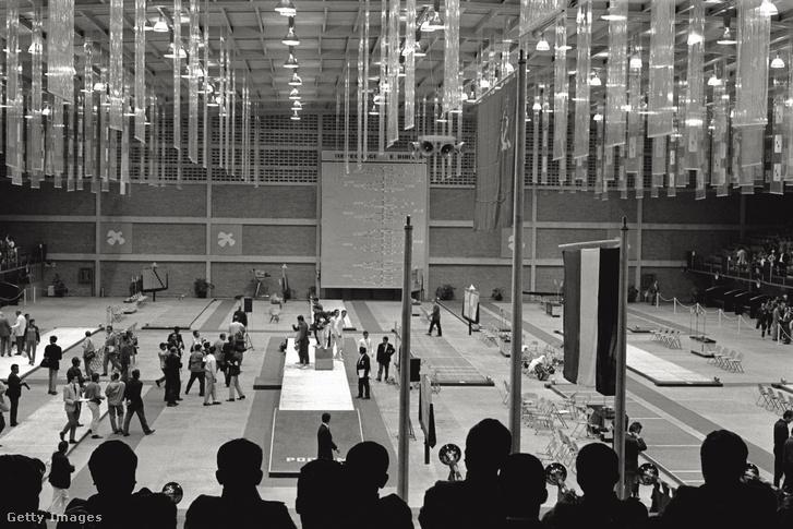 Az 1968-as mexikói olimpia vívócsarnoka
