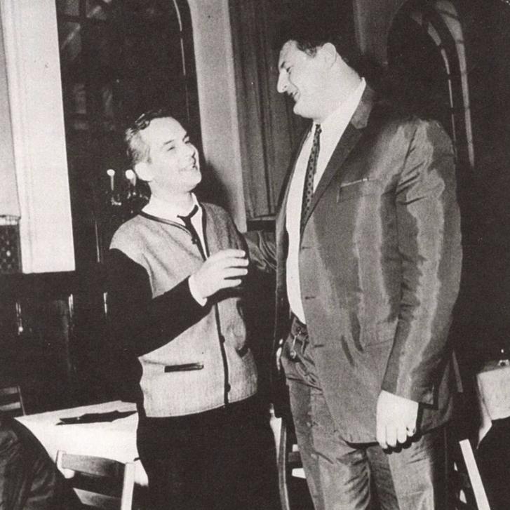 Latinovits Zoltán és Kozma István 1968-ban.