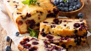 Áfonyás gyümölcskenyér glutén- és cukormentesen – bögrés recept