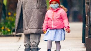 Irina Shayk kislánya védőfelszerelésben is nagyon cuki