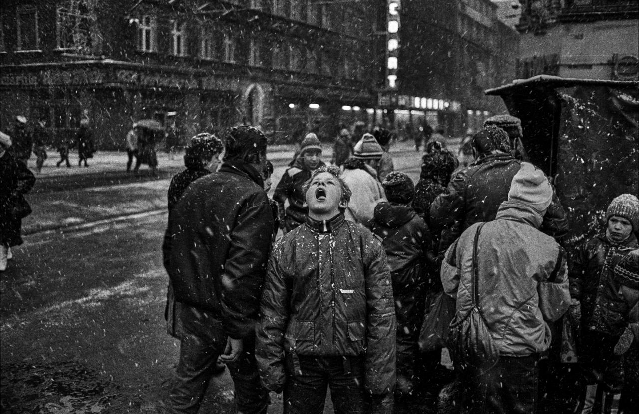 Hóevés Katowicében 1988 telén.