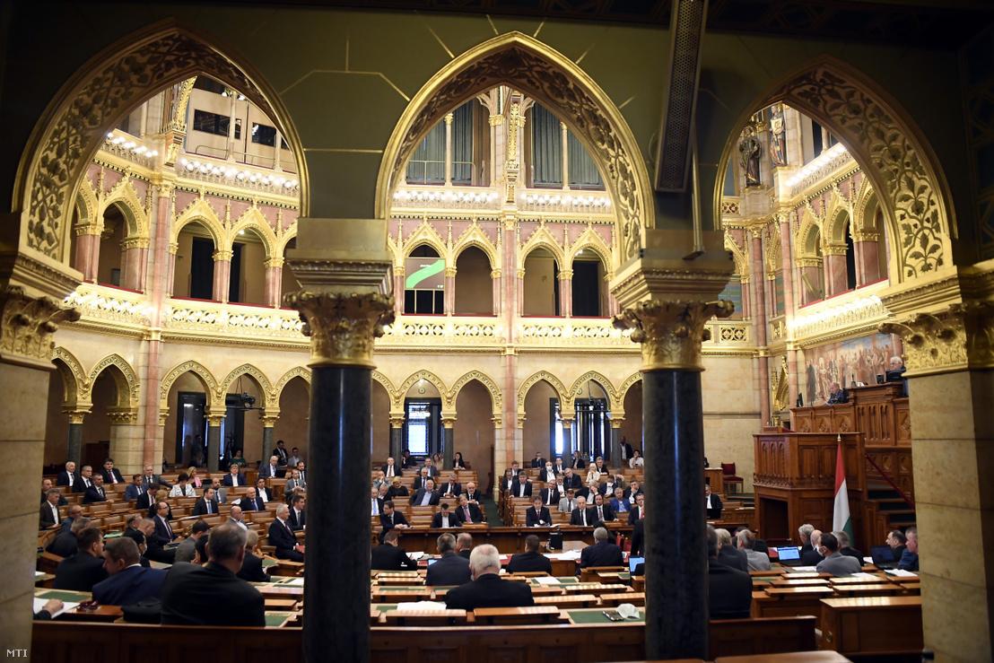 Az Országgyűlés mai plenáris ülése