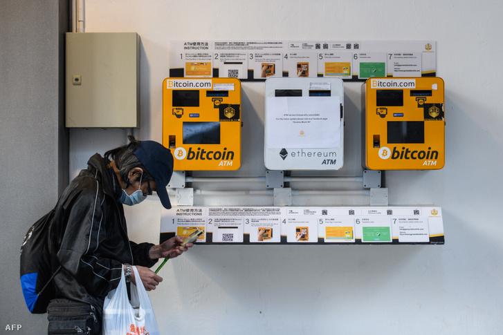 Bitcoin és ether kriptovaluta ATM-készülékek Hongkongban