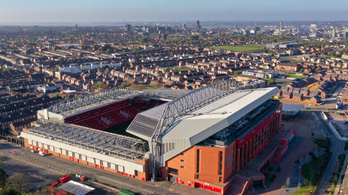 A koronavírus-járvány miatt csúszik a Liverpool stadionjának bővítése