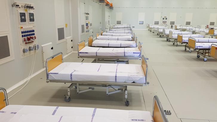 Betegágyak az ELI épületében