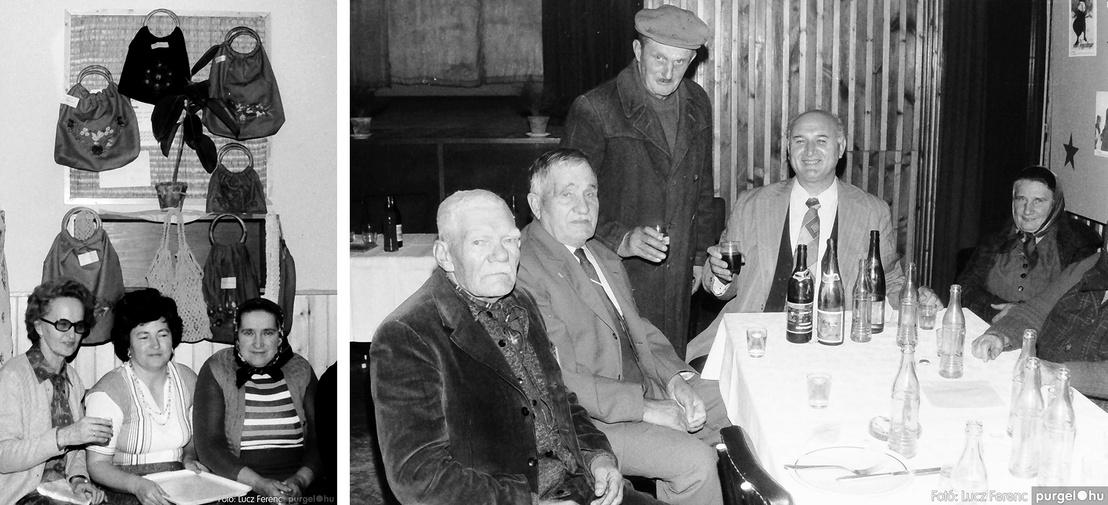 Bal: A Díszítőművész szakkör rendezvénye 1978-ban - Jobb: A Kommunisták Magyarországi Pártja alapításának évfordulóját ünneplik 1978-ban.