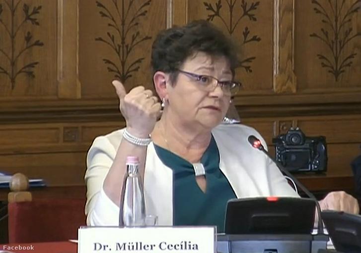 Müller Cecília a mai ülés élő adásában
