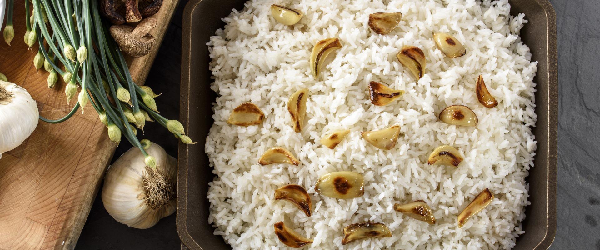 sült fokhagymás rizs cover