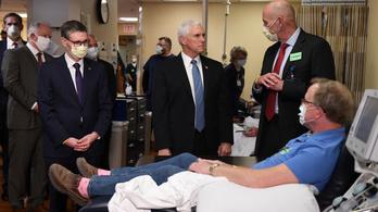 Trump alelnöke simán besétált egy kórházba szájmaszk nélkül