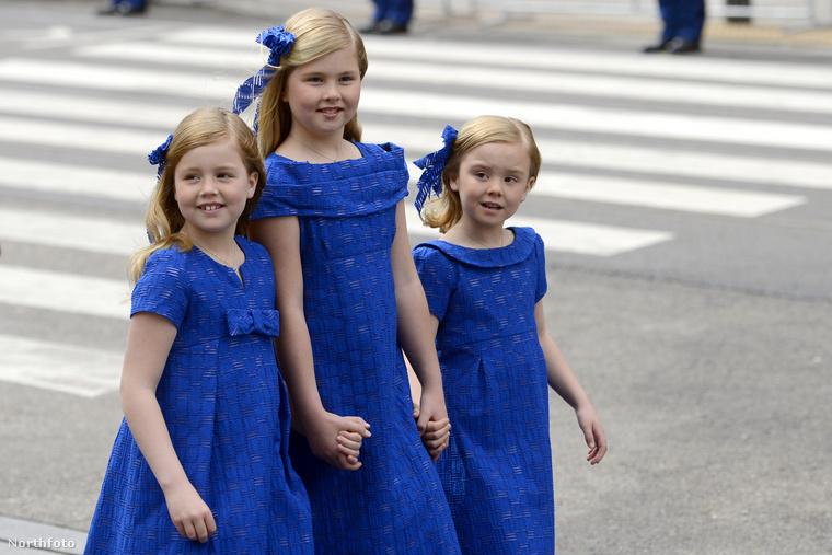 Íme a király három lánya, középen a legidősebb,cikkünk főszereplője: Katalin Amália