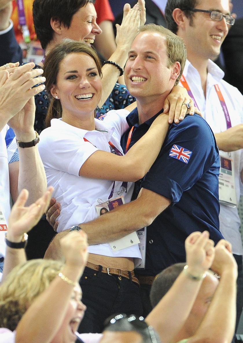 Így örültek a 2012-es londoni olimpián az egyik aranymedálnak.