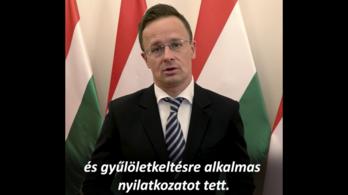 Szijjártó válaszolt a román elnök magyarellenes beszédére