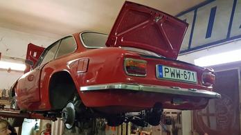 Masszív karbantartás az Alfa GT1300 Junioron - futómű, váltó, kuplung, fék