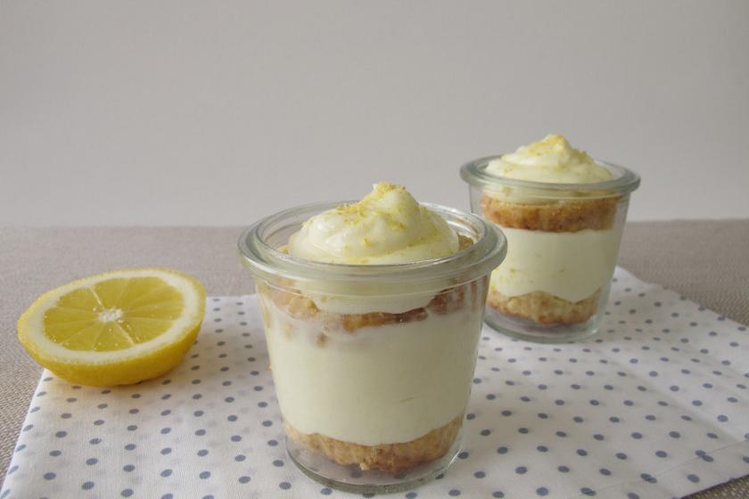 citromos sajttorta pohárkrém recept