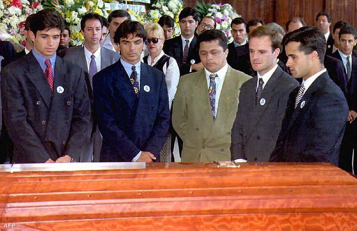 Raul Boesel, Rubens Barricello és Pedro Lamy Ayrton Senna temetésén