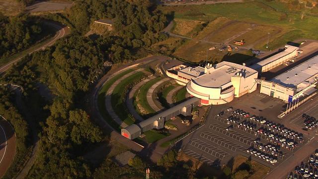 A Volvo biztonsági központ a levegőből