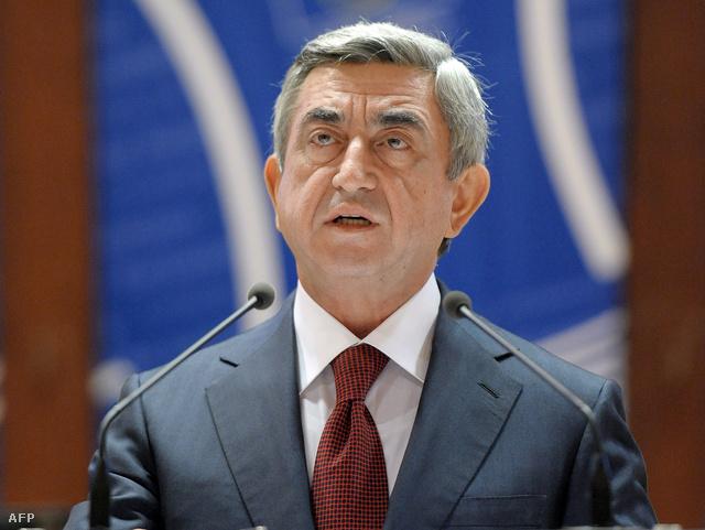 Szerzs Szargszjan örmény elnök