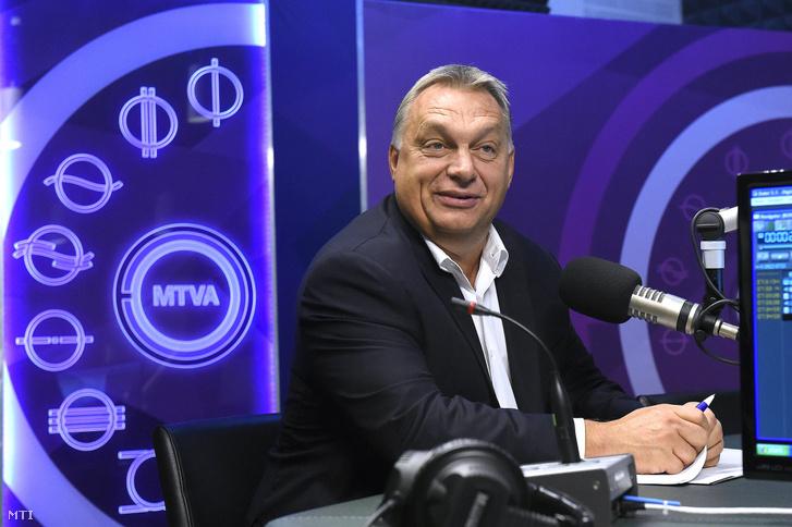Orbán Viktor miniszterelnök a Kossuth Rádió stúdiójában 2017-ben