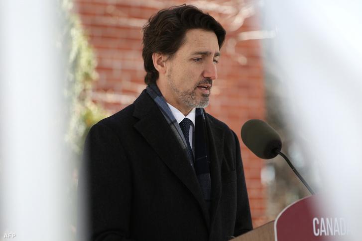 Justin Trudeau kanadai miniszterelnök április 20-án.
