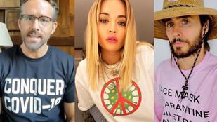 Íme a legmenőbb járványellenes pólók, hat hírességtől