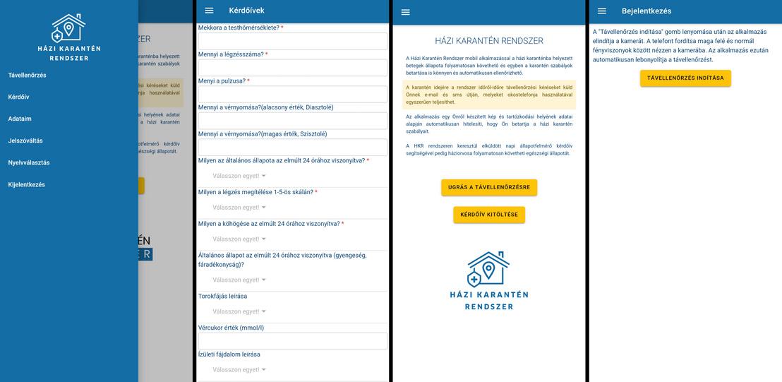 Képernyőképek az alkalmazásból