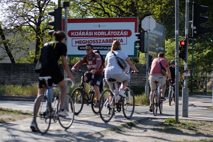 Kerékpárosok Budapesten