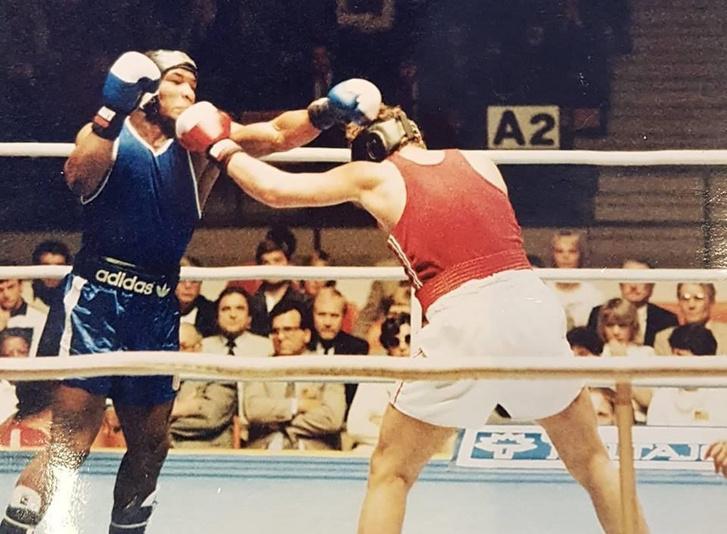 Szikora István és Mike Tyson 1984-ben