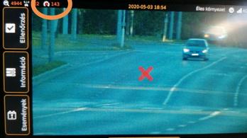 Tíz óra alatt 143 gyorshajtót mértek be a tatai rendőrök