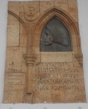 Mekcsey István emléktáblája Sajóvárkonyban