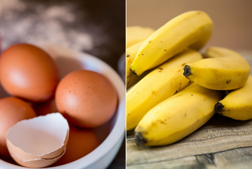 Ha elfogyott a tojás, mégis süteményt készítenél, helyettesítsd banánnal: egy tojás helyett tegyél bele egy kis méretű banánt - vagy annyit, amennyit az állag megkíván.