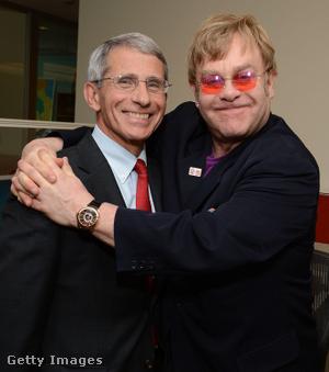 Anthony Fauci és Elton John 2012-ben