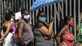 Egy nap alatt 600-zal nőtt a halottak száma Brazíliában