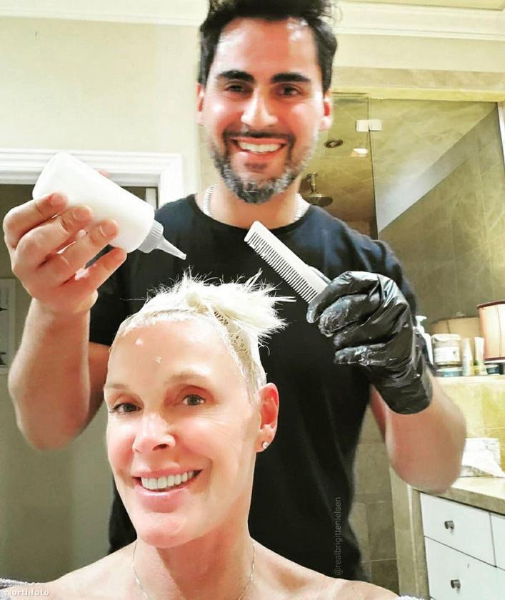 Brigitte Nielsen esete pedig pont a fentiek pepitája: náluk a férfi vette kezelésbe a nő frizuráját