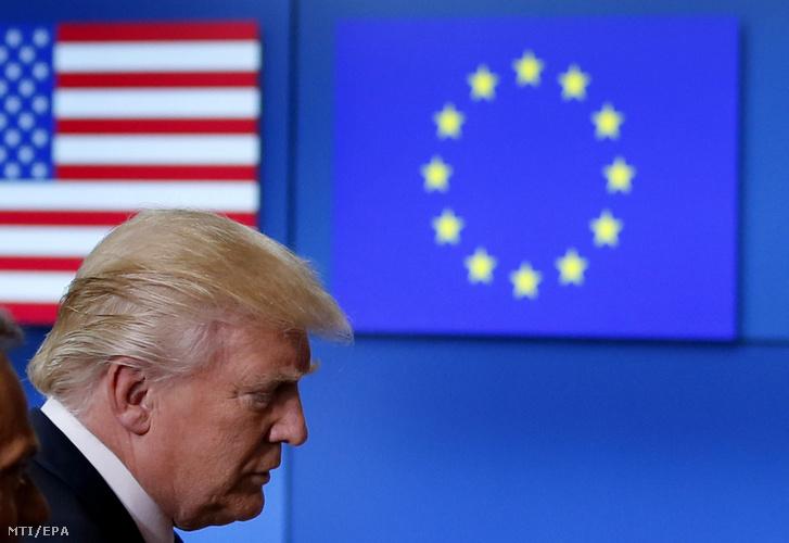Donald Trump amerikai elnök Brüsszelben 2017. május 25-én