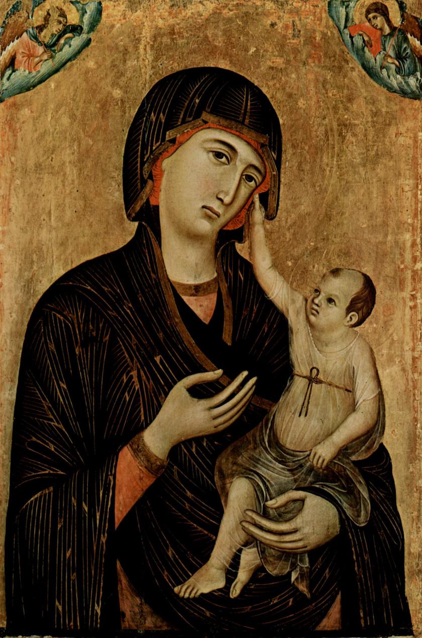 Duccio di Buoninsegna: Madonna és gyermeke.