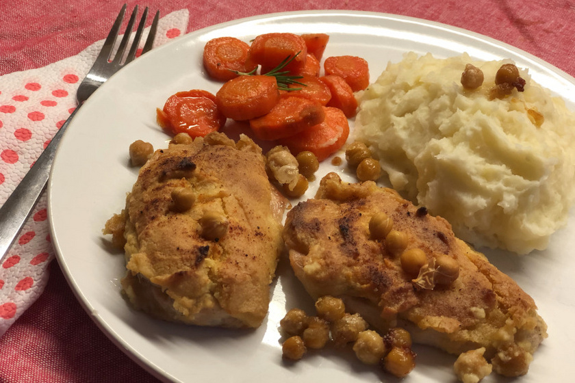 humuszos csirkemell recept