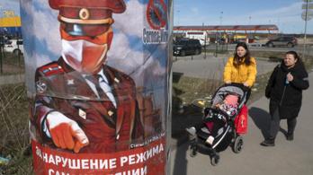 Putyin népszerűségének is betett a járvány
