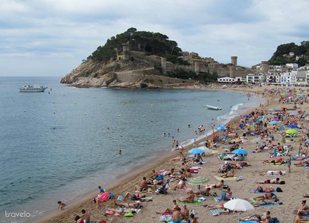 Tossa de Mar strandja