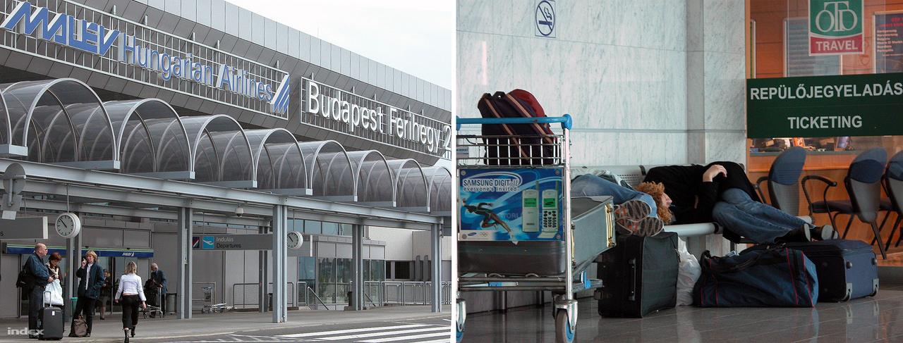 Életképek a kétezres évek legelejéről. Még volt Malév, és kezdtek bejönni a Samsung mobiltelefonok – a jobb oldali fotón a dél-koreai cég 1999-ben bemutatott, SGH-2400-as készülékének reklámja látható a poggyászkocsin.