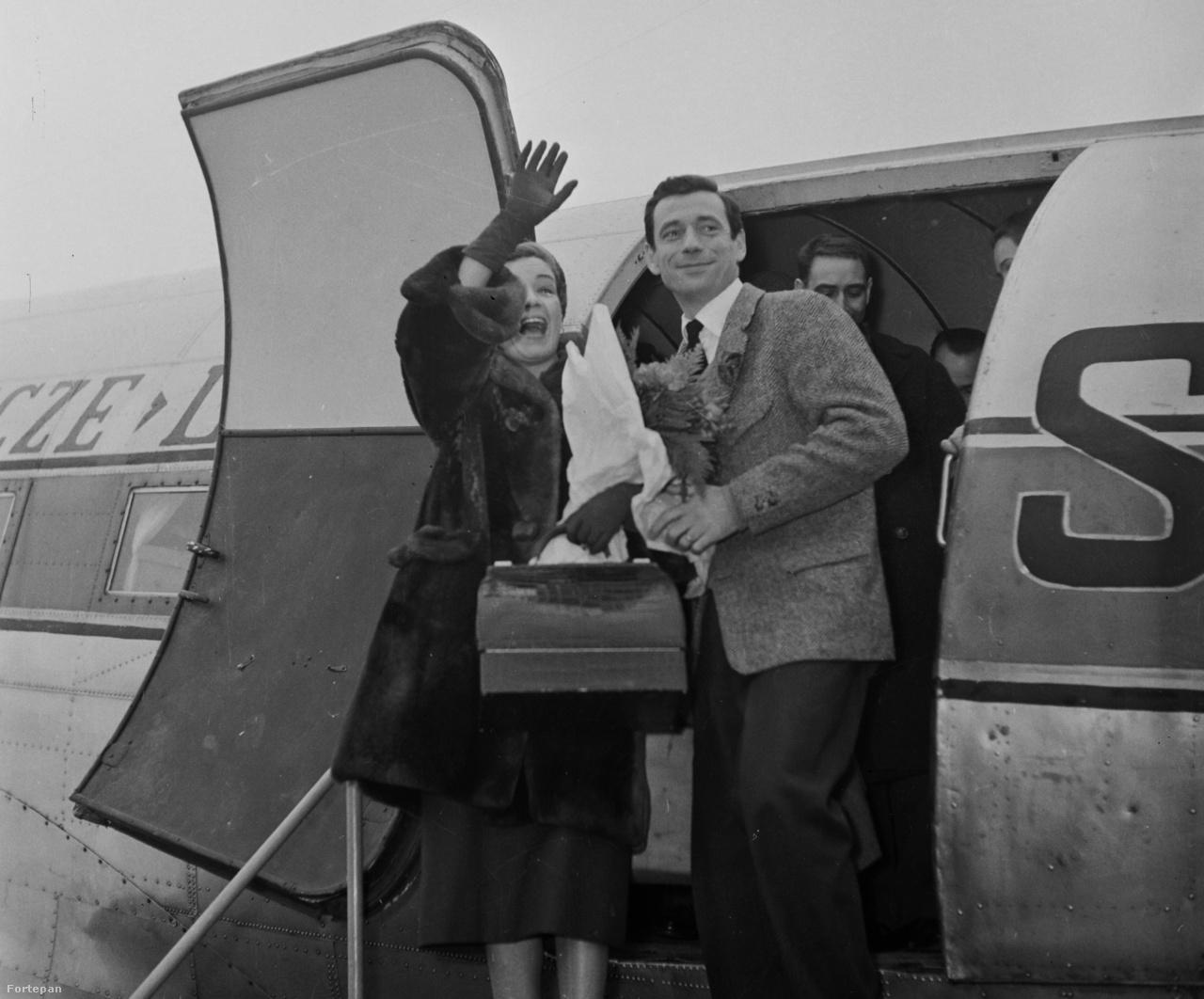 1957: Magyarországra látogatott Simone Signoret színművésznő és férje, Yves Montand sanzonénekes és filmszínész. A francia sztárházaspár a lengyel légitársaság (LOT) Liszunov Li-2 típusú repülőgépével érkezett a magyar főváros repülőterére.