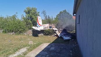 Lezuhant egy katonai repülőgép Horvátországban, lemondott a védelmi miniszter