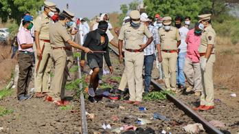 A síneken aludt 16 munkás, halálra gázolta őket egy tehervonat