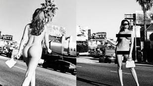 Vass Zita a sugárút mellett meztelenül stoppolt, Ellen von Unwerth fotózta