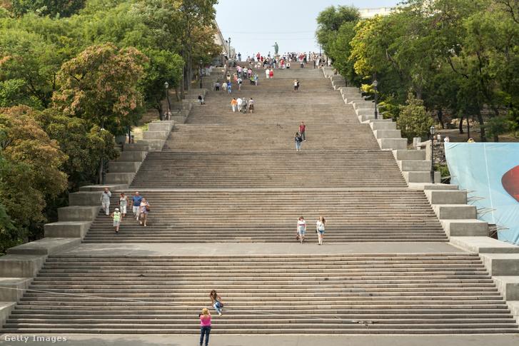 A legendás lépcső 1837 és 1841 között épült, tervezője Francesco Boffo olasz építész volt